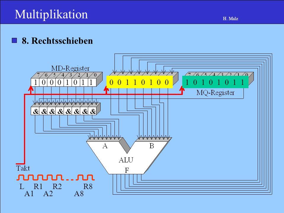 Multiplikation H. Malz 1 0 0 0 1 0 1 10 1 1 0 1 0 0 10 1 0 1 0 1 1 0 8.