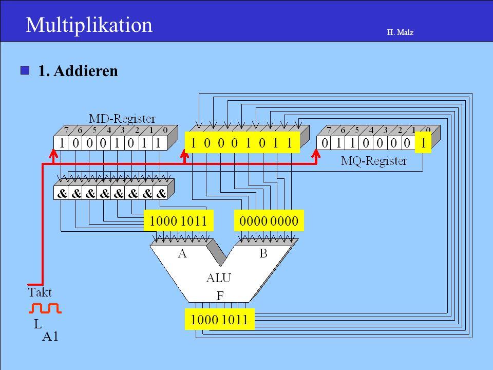 Multiplikation H. Malz 1 0 0 0 1 0 1 10 0 0 0 0 1 1 0 0 0 0 1.