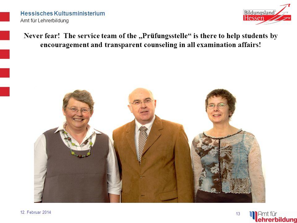 13 Hessisches Kultusministerium Amt für Lehrerbildung 12.