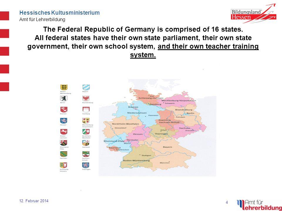 15 Hessisches Kultusministerium Amt für Lehrerbildung 12.