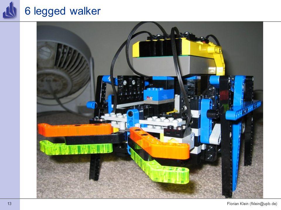 13Florian Klein (fklein@upb.de) 6 legged walker