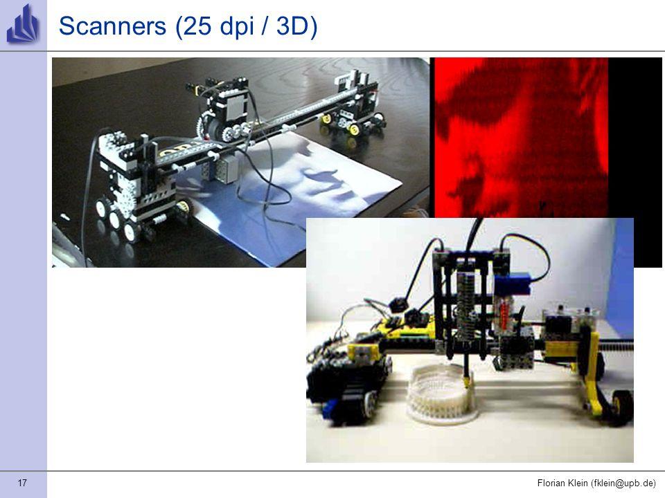 17Florian Klein (fklein@upb.de) Scanners (25 dpi / 3D)