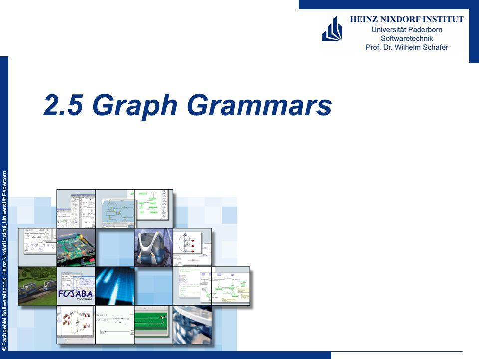 © Fachgebiet Softwaretechnik, Heinz Nixdorf Institut, Universität Paderborn 2.5 Graph Grammars