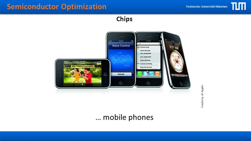 Semiconductor Optimization Technische Universität München Chips … mobile phones Courtesy of Apple