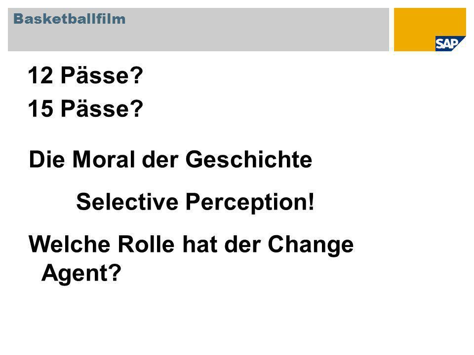 Basketballfilm 12 Pässe. Die Moral der Geschichte Selective Perception.