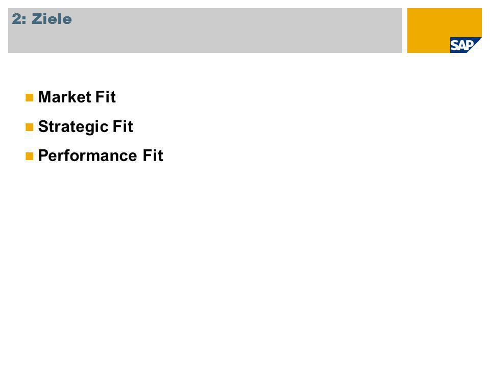 2: Ziele Market Fit Strategic Fit Performance Fit