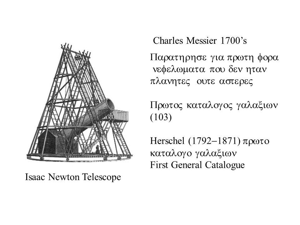 Charles Messier 1700s Herschel First General Catalogue Isaac Newton Telescope