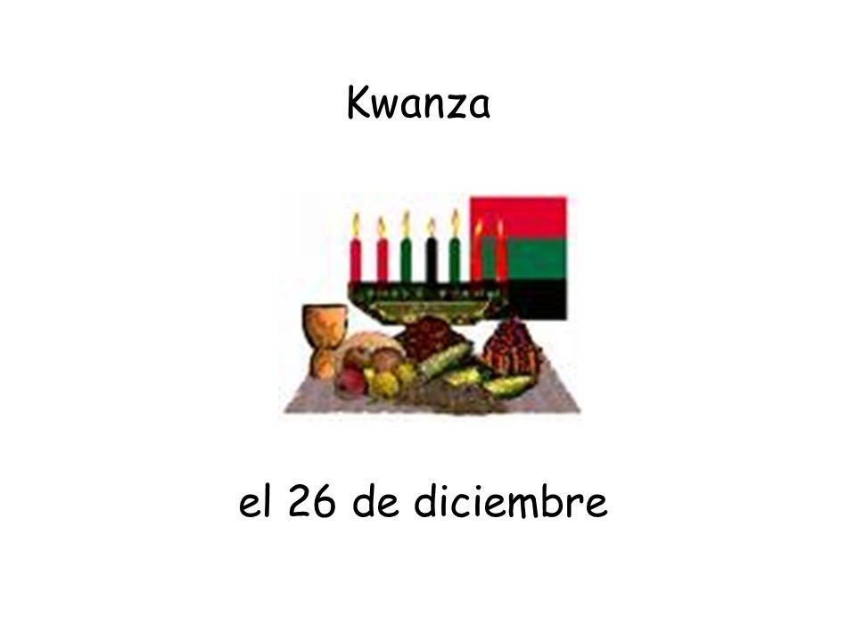 el 26 de diciembre Kwanza