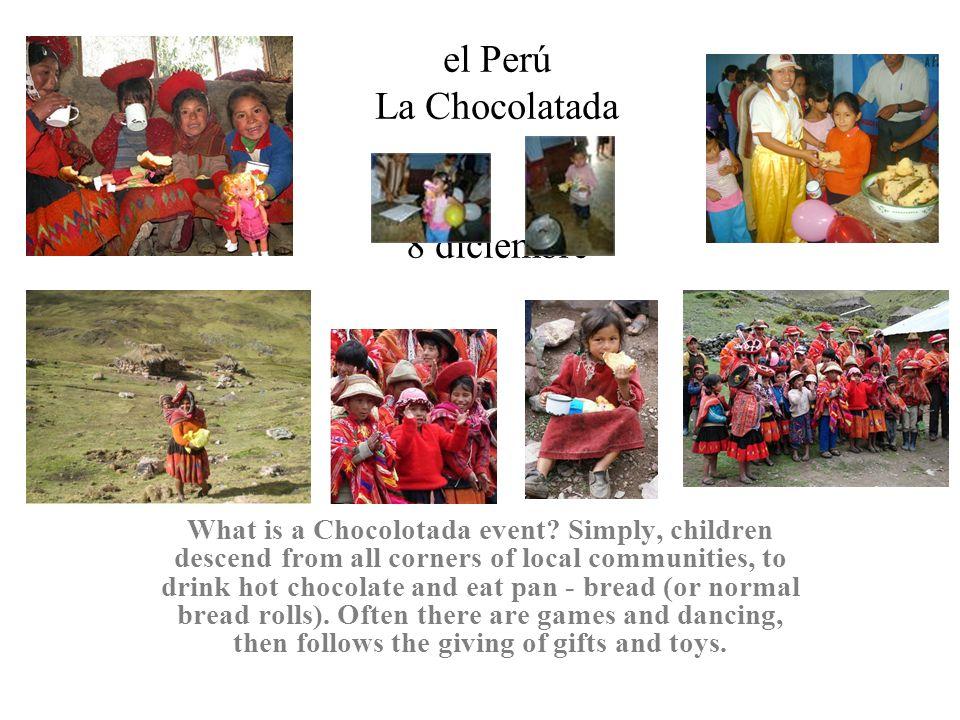 el Perú La Chocolatada 8 diciembre What is a Chocolotada event.
