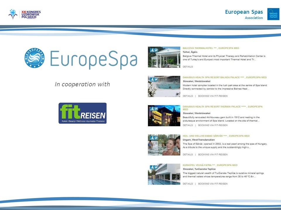 In cooperation with European Spas Association
