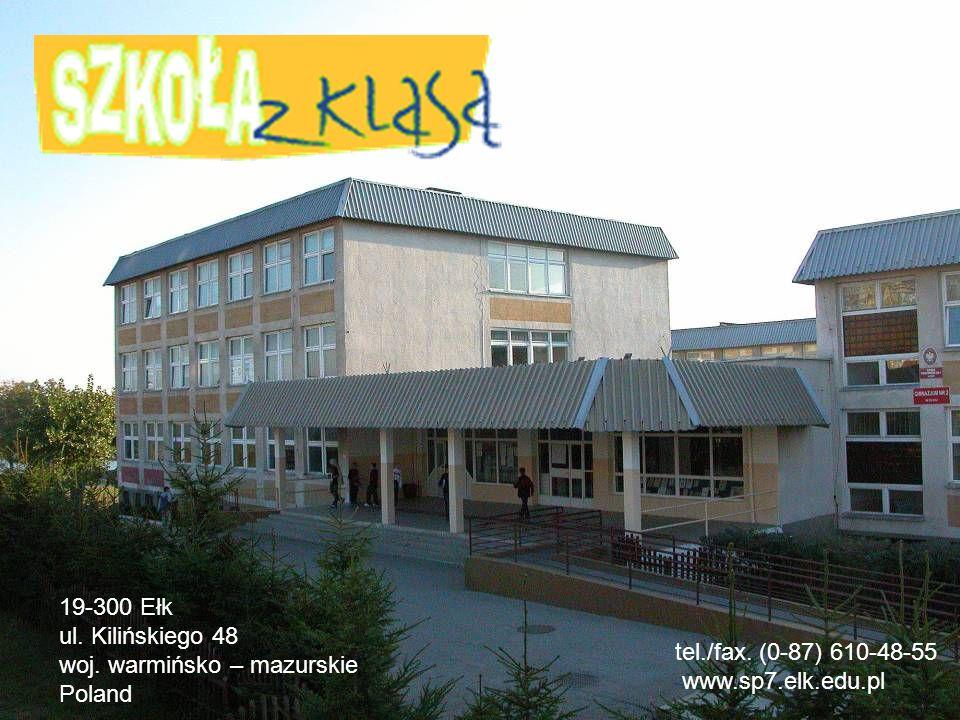19-300 Ełk ul. Kilińskiego 48 woj. warmińsko – mazurskie Poland tel./fax.