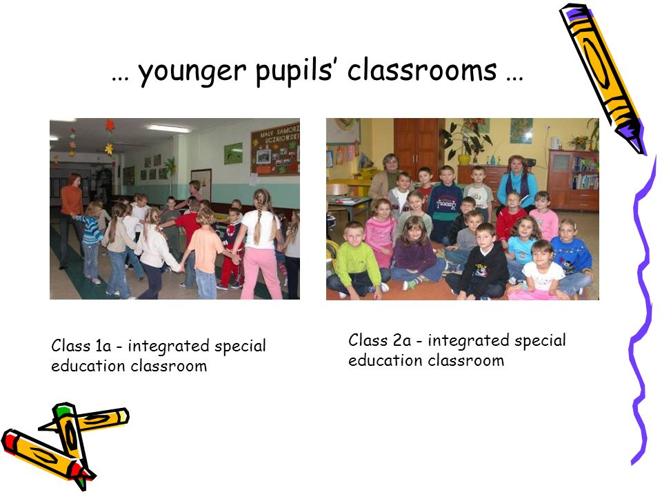 … our classrooms … Science classroom Polish classroom Information Technology classroom