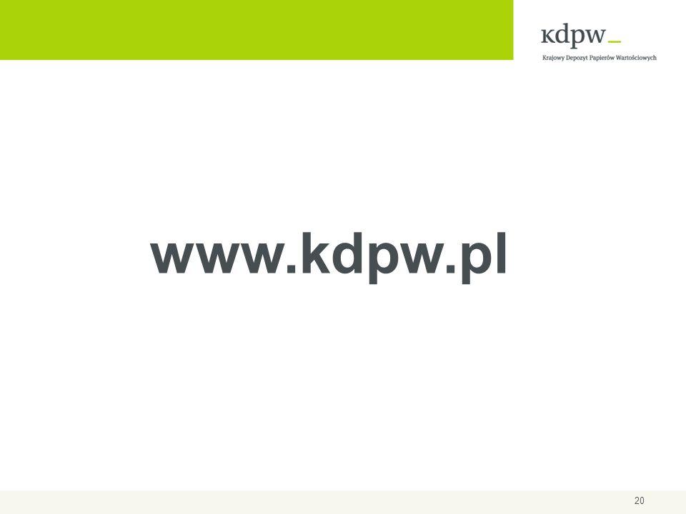 20 www.kdpw.pl