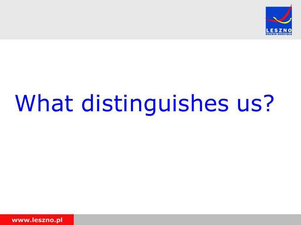 What distinguishes us