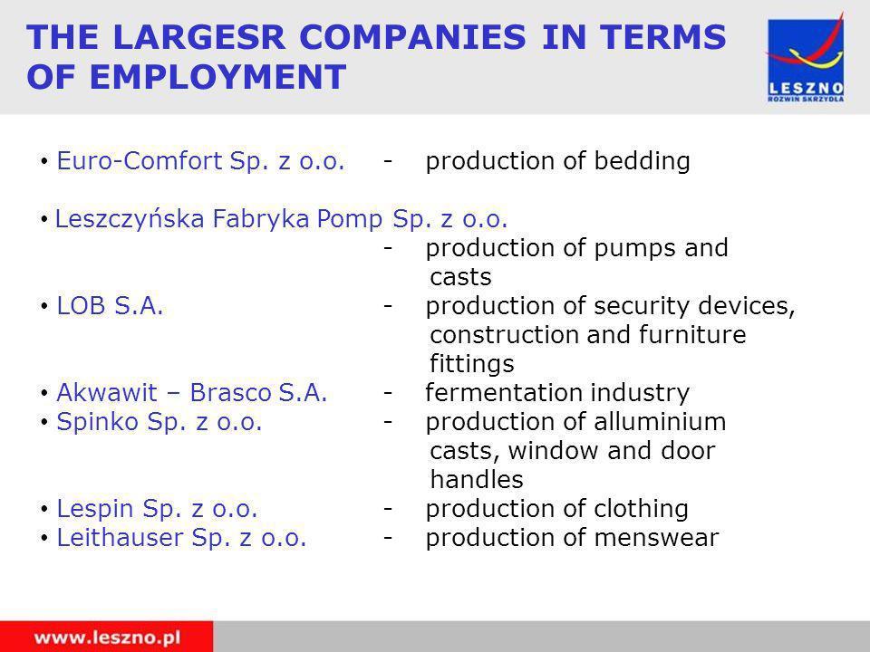 Euro-Comfort Sp. z o.o. -production of bedding Leszczyńska Fabryka Pomp Sp.