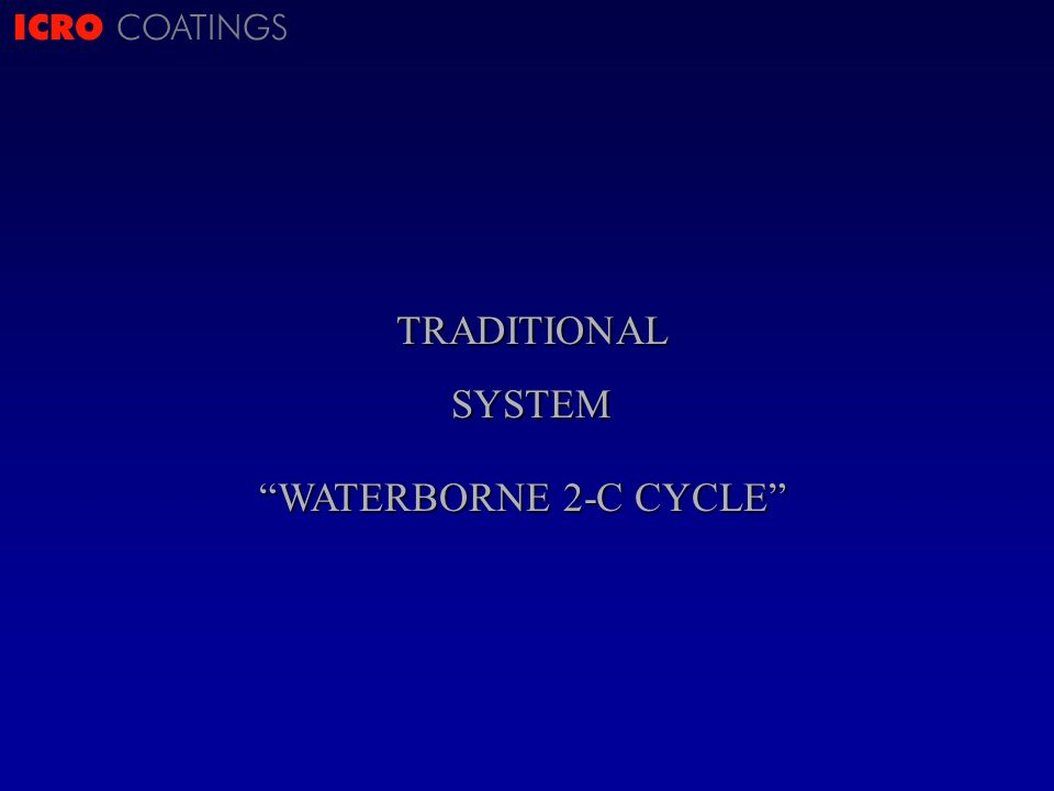 ICRO COATINGSTRADITIONALSYSTEM WATERBORNE 2-C CYCLE