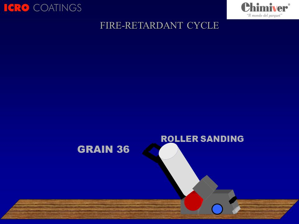ICRO COATINGS ROLLER SANDING GRAIN 36 FIRE-RETARDANT CYCLE