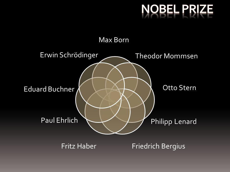 Max Born Otto Stern Theodor Mommsen Philipp Lenard Eduard Buchner Paul Ehrlich Erwin Schrödinger Fritz HaberFriedrich Bergius