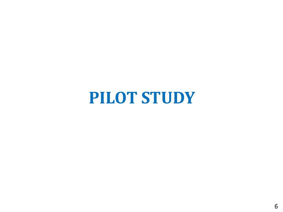 PILOT STUDY 6
