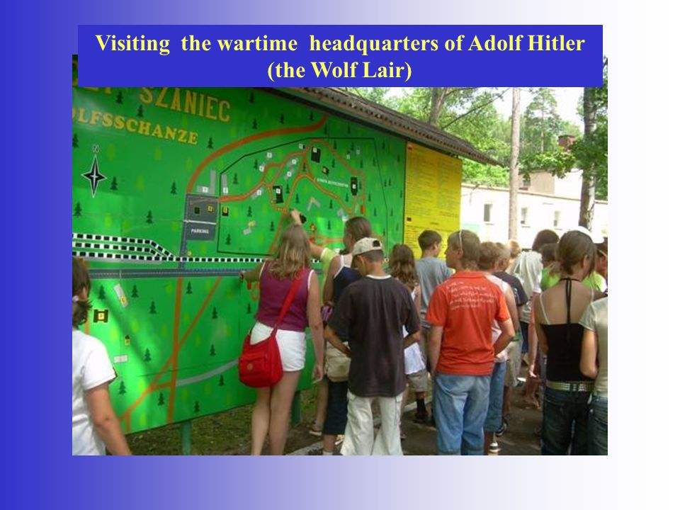 Visiting the wartime headquarters of Adolf Hitler (the Wolf Lair)