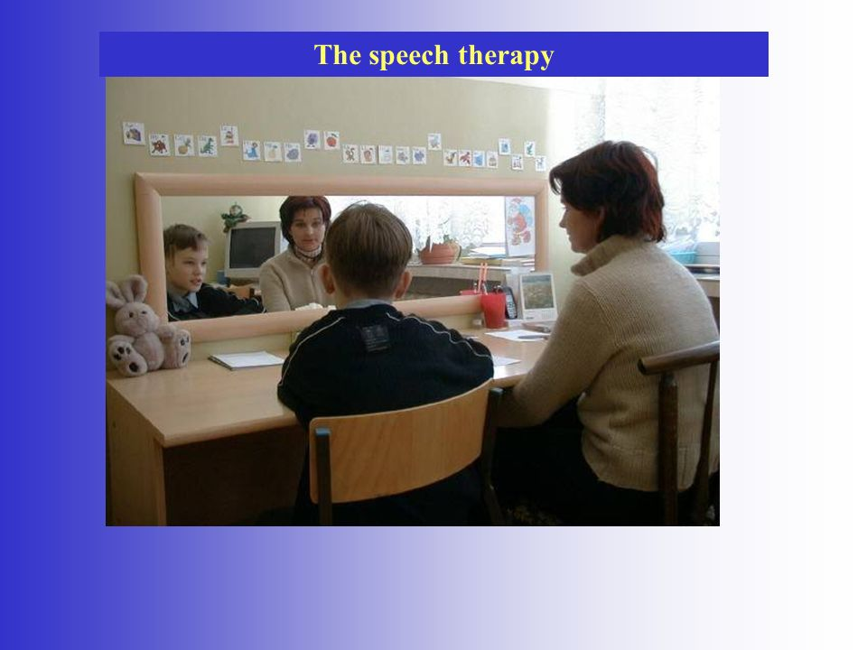The speech therapy