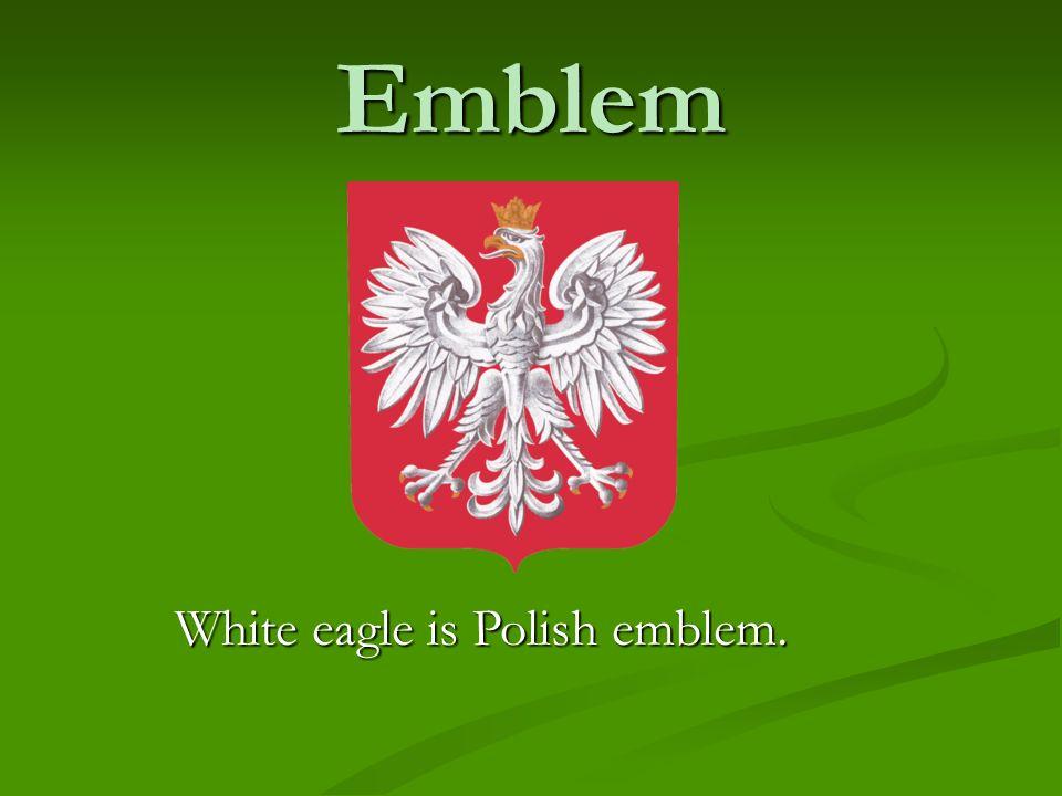 Emblem White eagle is Polish emblem.