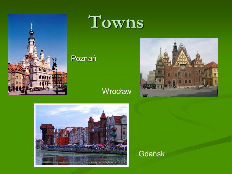 Towns Wrocław Poznań Wrocław Gdańsk