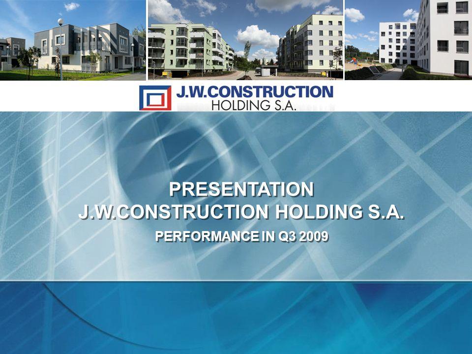 PRESENTATION J.W.CONSTRUCTION HOLDING S.A.