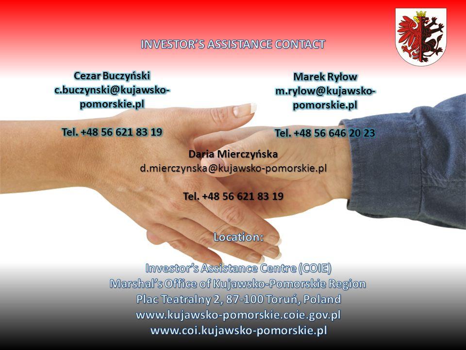 Daria Mierczyńska d.mierczynska@kujawsko-pomorskie.pl Tel. +48 56 621 83 19