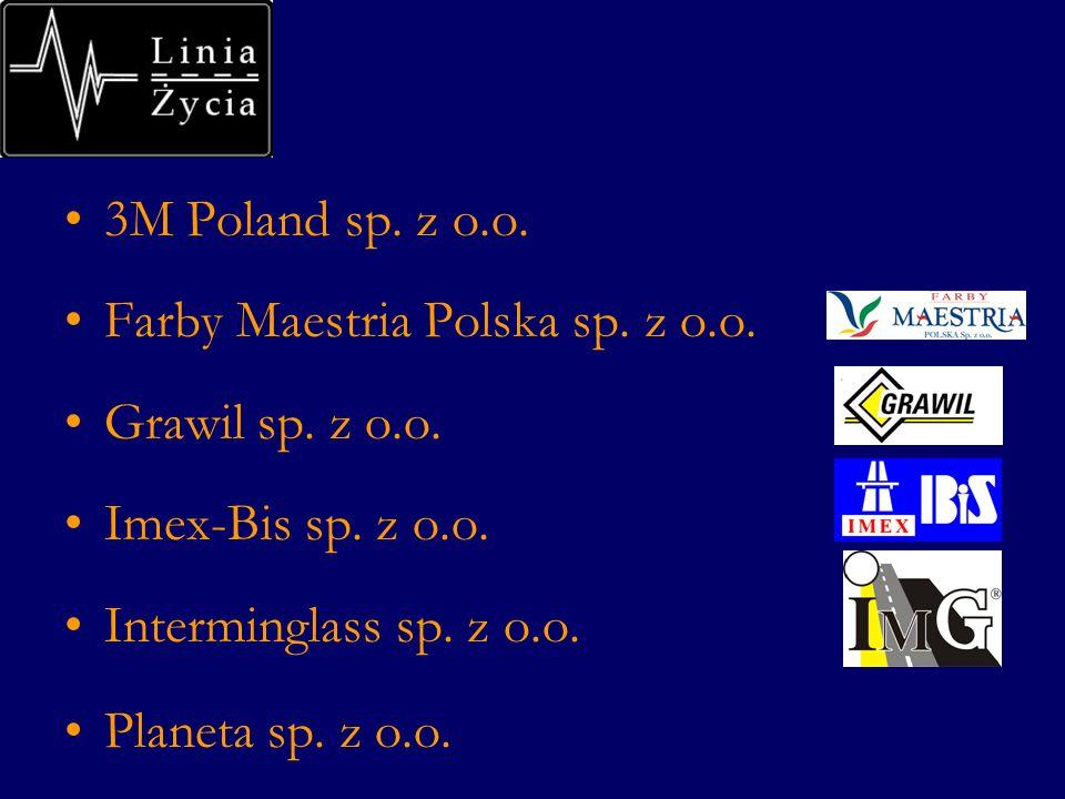 3M Poland sp. z o.o. Farby Maestria Polska sp. z o.o. Grawil sp. z o.o. Imex-Bis sp. z o.o. Interminglass sp. z o.o. Planeta sp. z o.o.