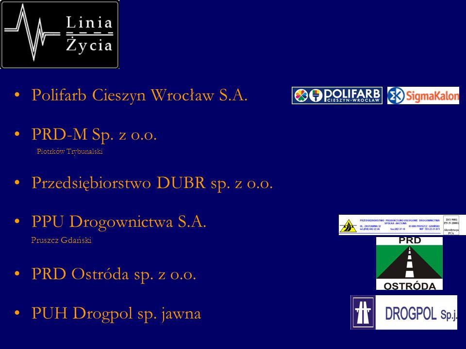 Polifarb Cieszyn Wrocław S.A. PRD-M Sp. z o.o. Piotrków Trybunalski Przedsiębiorstwo DUBR sp.