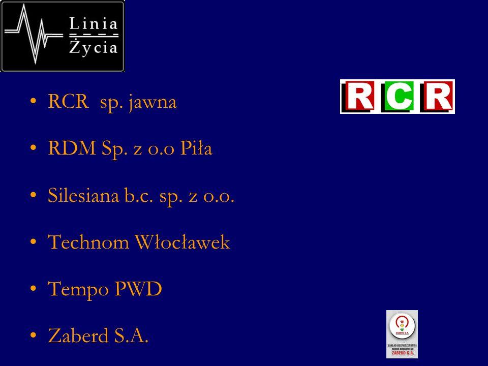 RCR sp. jawna RDM Sp. z o.o Piła Silesiana b.c. sp. z o.o. Technom Włocławek Tempo PWD Zaberd S.A.