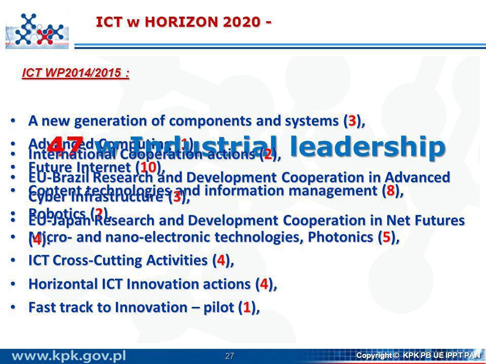 27 Copyright © KPK PB UE IPPT PAN A new generation of components and systems (3), A new generation of components and systems (3), Advanced Computing (