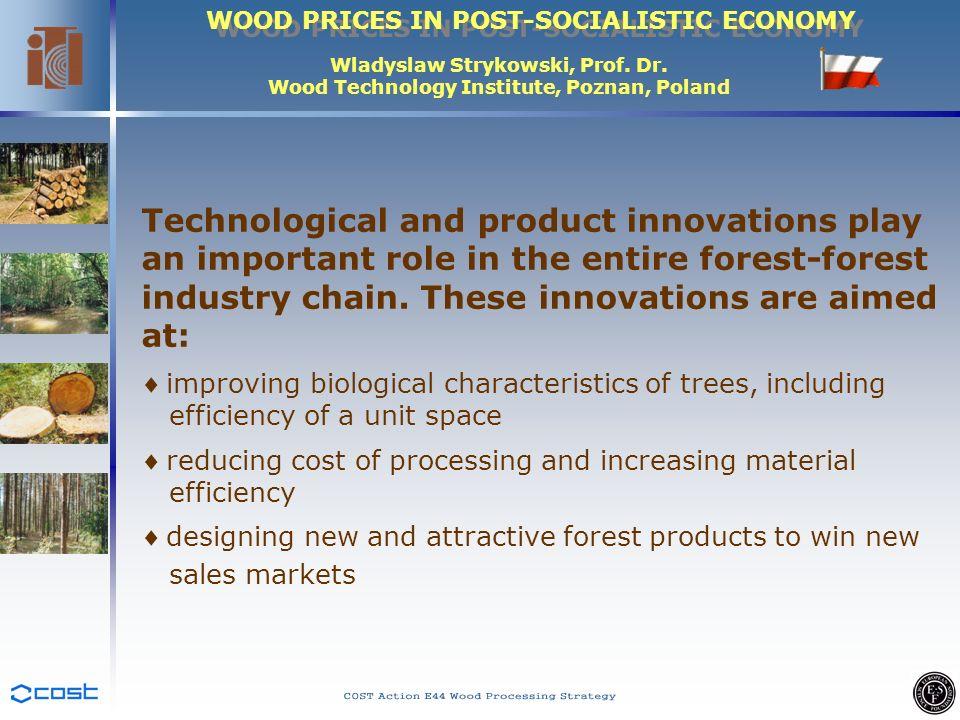 WOOD PRICES IN POST-SOCIALISTIC ECONOMY Wladyslaw Strykowski, Prof.