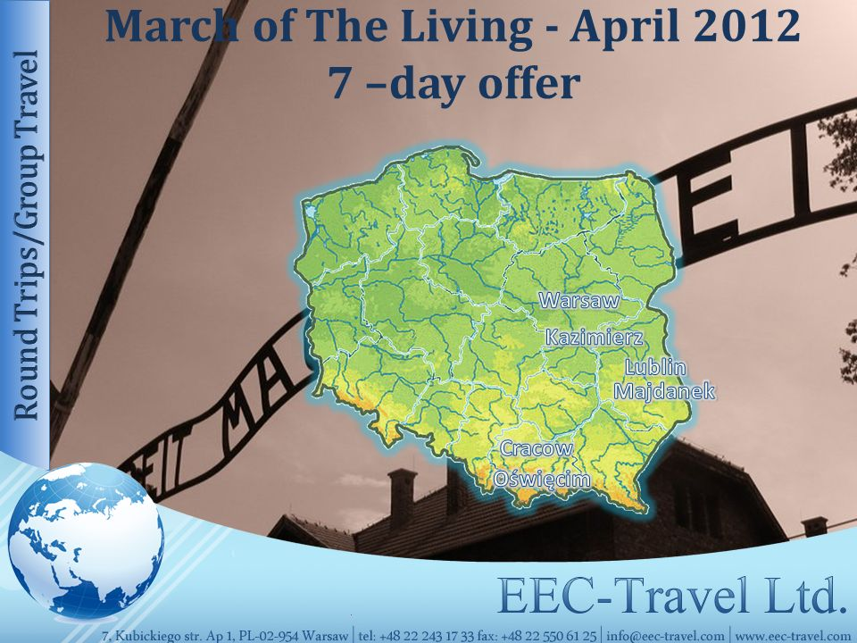 March of The Living - April –day offer