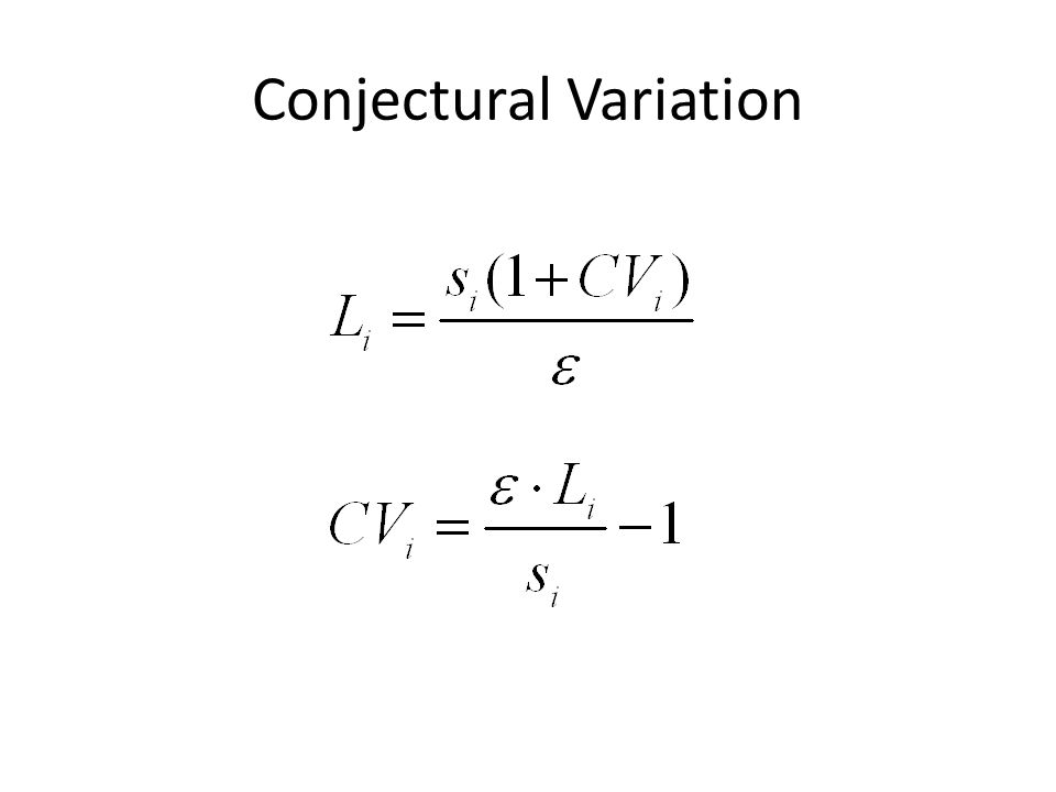 Conjectural Variation