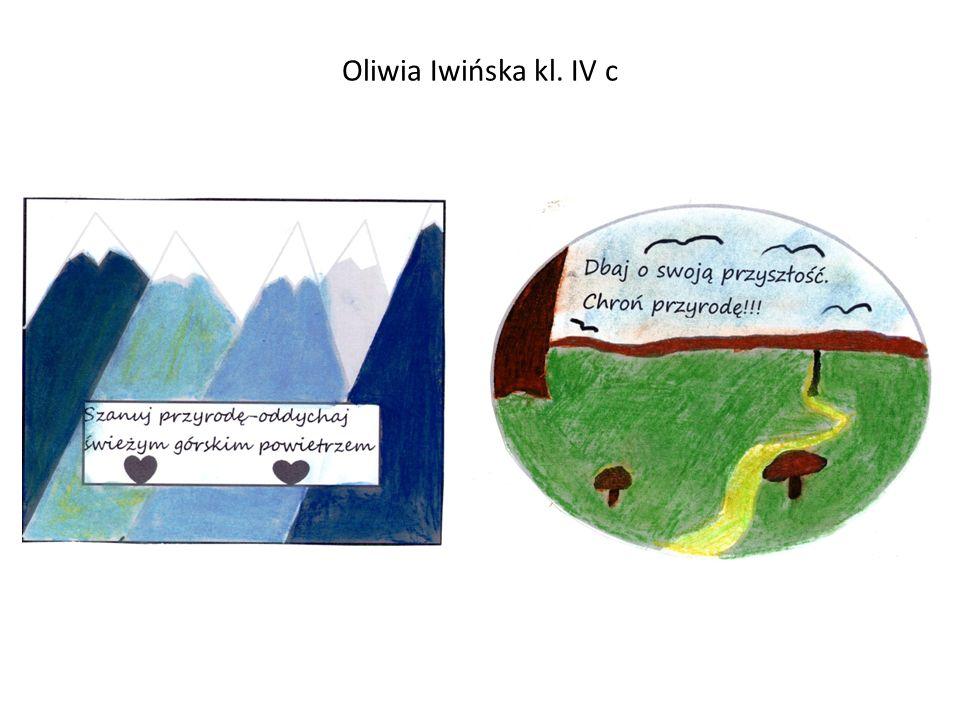 Oliwia Iwińska kl. IV c