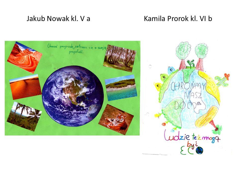 Jakub Nowak kl. V a Kamila Prorok kl. VI b