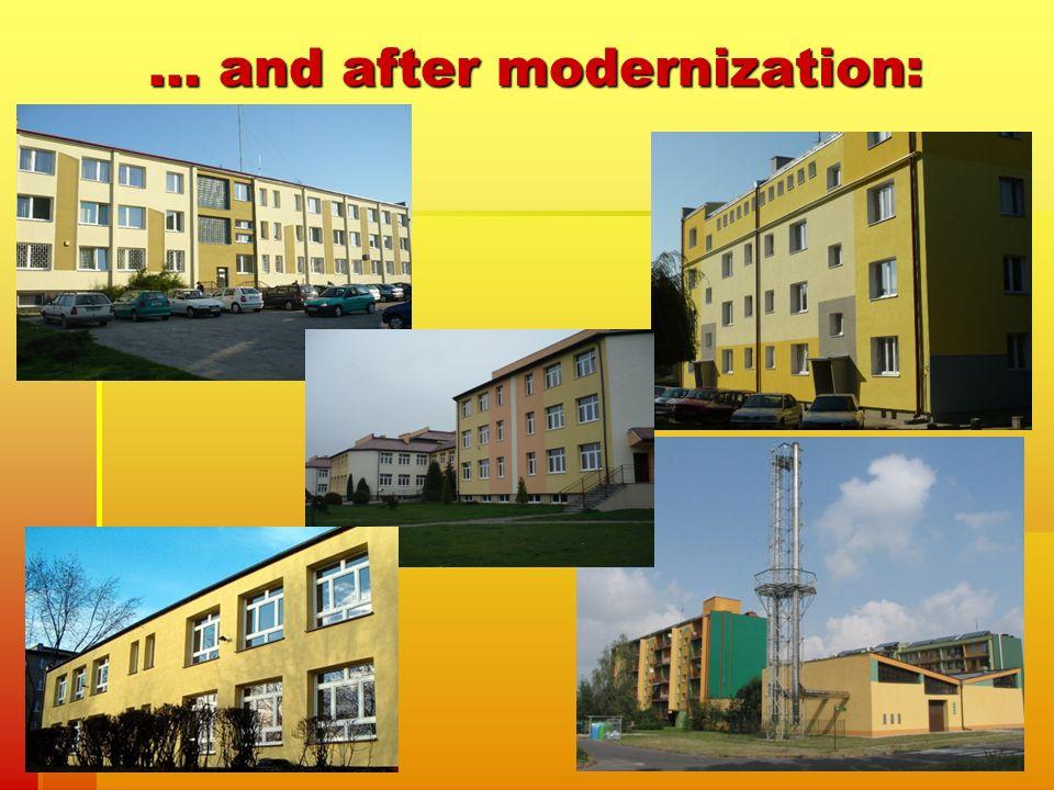 … and after modernization:
