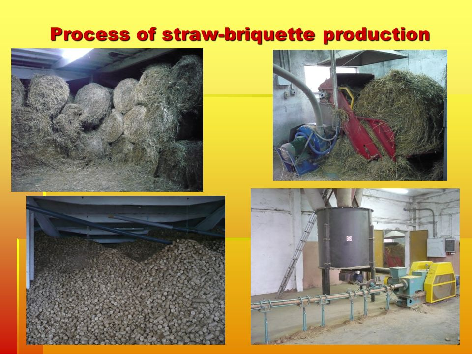Process of straw-briquette production