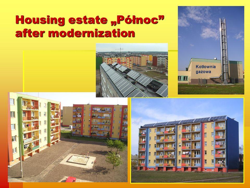 Housing estate Północ after modernization Kotłownia gazowa