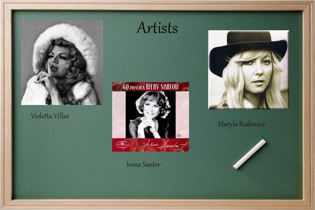 Violetta Villas Maryla Rodowicz Artists Irena Santor
