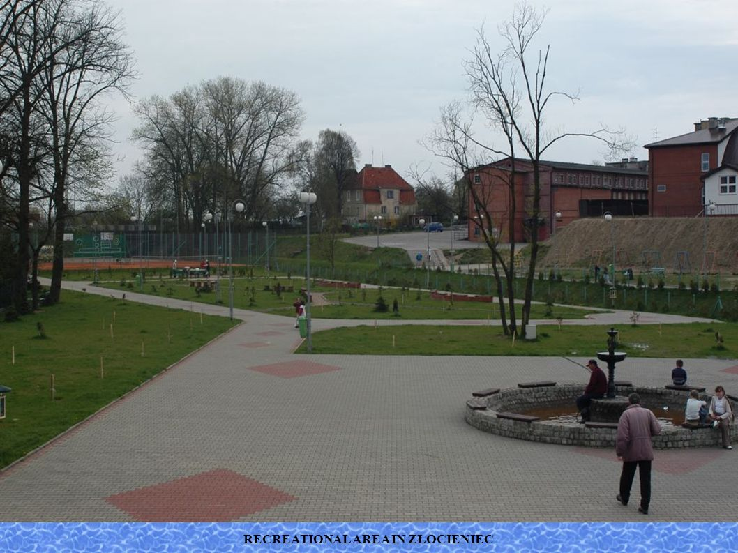 RECREATIONAL AREA IN ZŁOCIENIEC