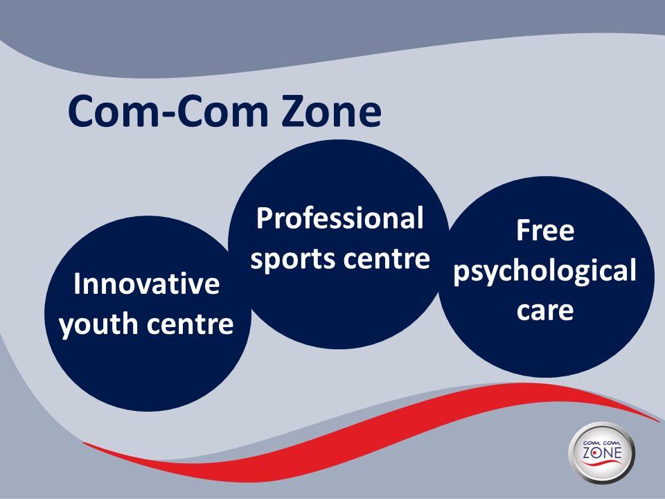Com-Com Zone Innovative youth centre Professional sports centre Free psychological care