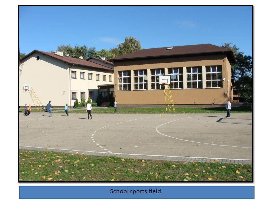 School sports field.