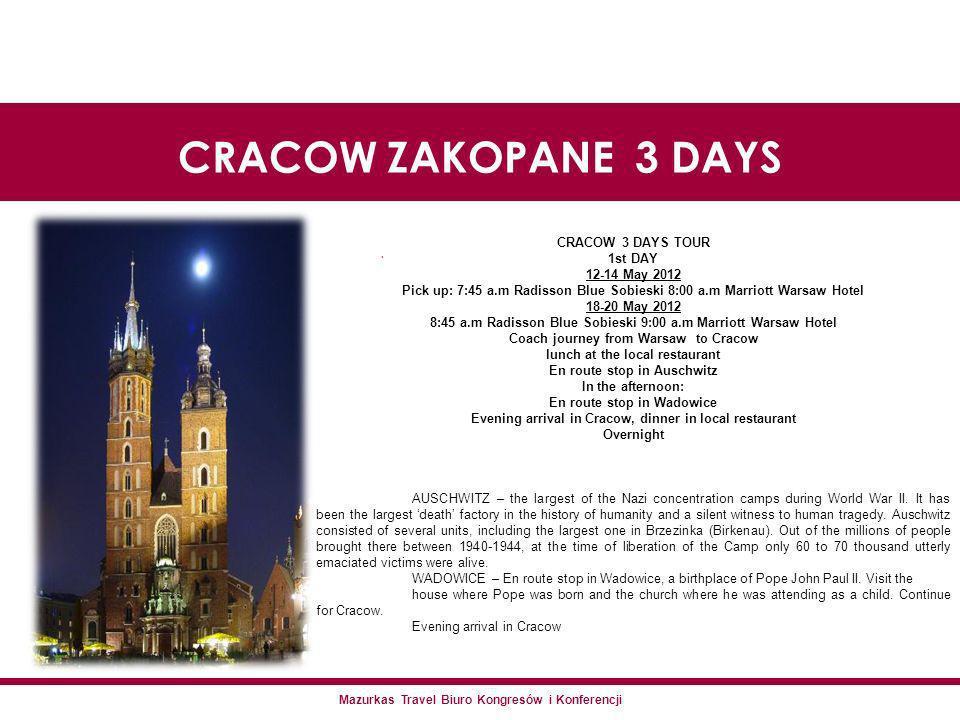 Mazurkas Travel Biuro Kongresów i Konferencji.