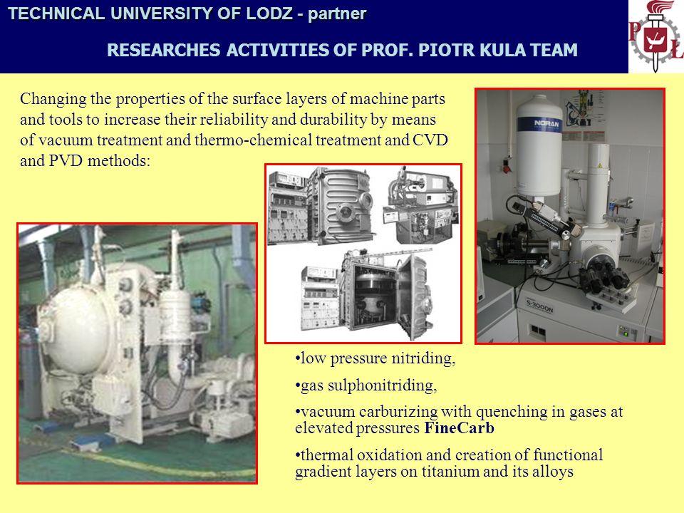 TECHNICAL UNIVERSITY OF LODZ- partner TECHNICAL UNIVERSITY OF LODZ - partner INSTITUTE OF TURBOMACHINERY TM1 turbine test rig