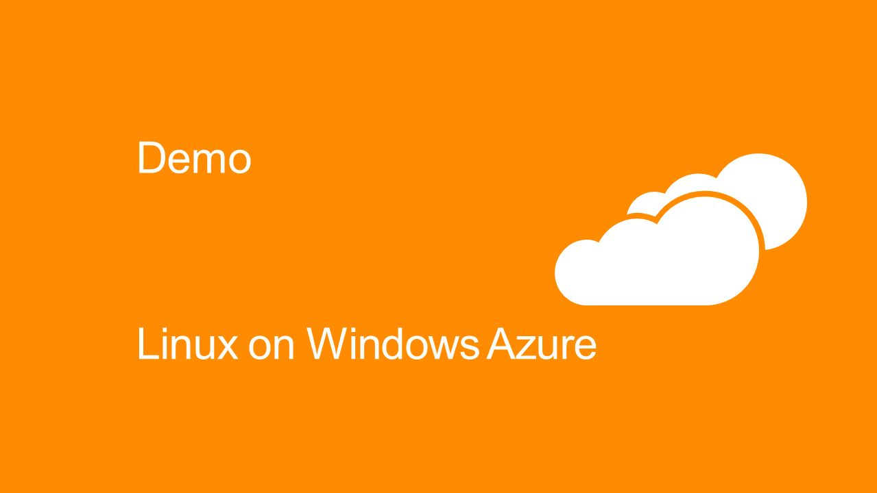Demo Linux on Windows Azure