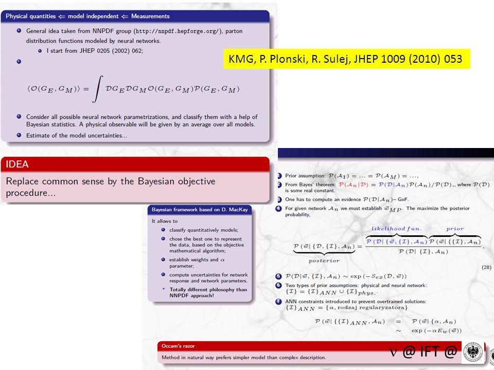 KMG, P. Plonski, R. Sulej, JHEP 1009 (2010) 053 @ IFT @