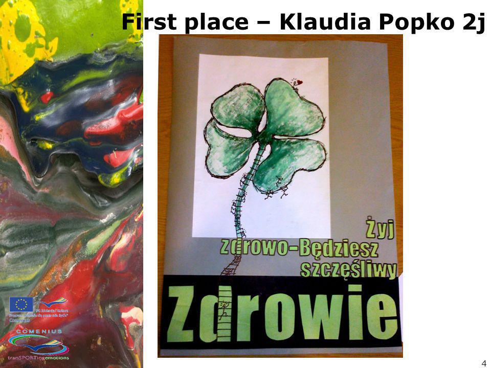 4 First place – Klaudia Popko 2j